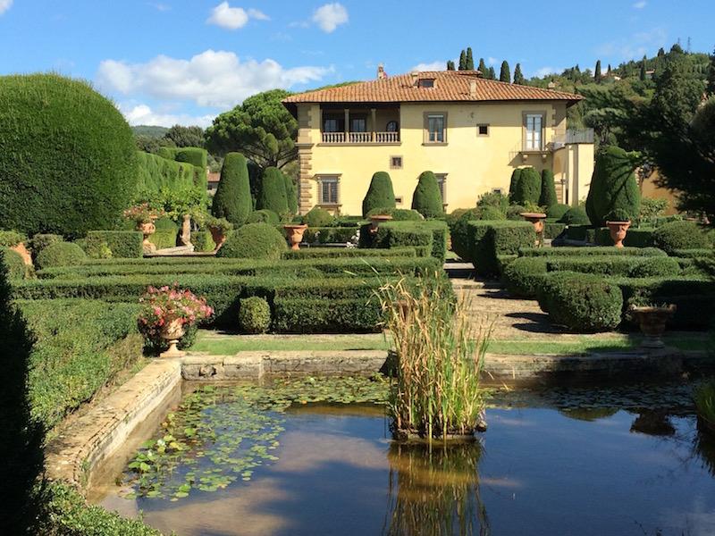 Main water feature at Villa Gamberaia