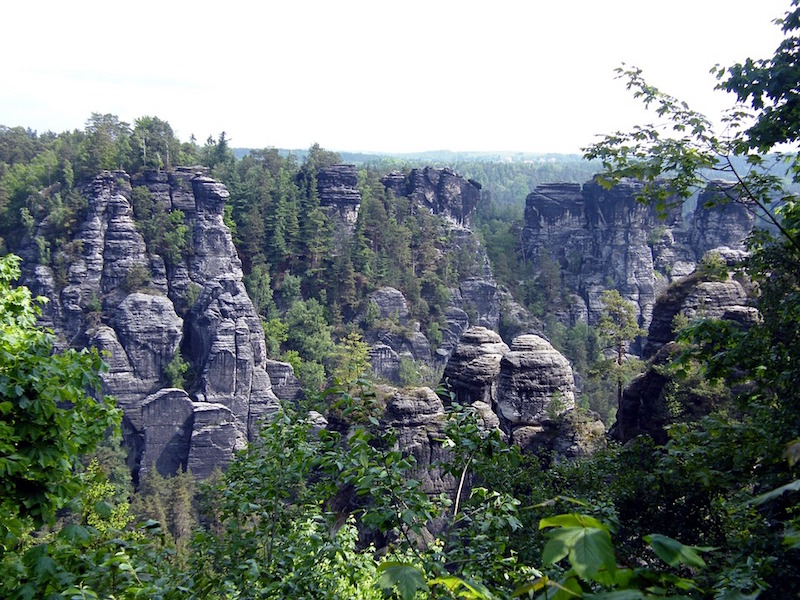 Elbe Sandstone Mountains between Saxony and the Czech Republic