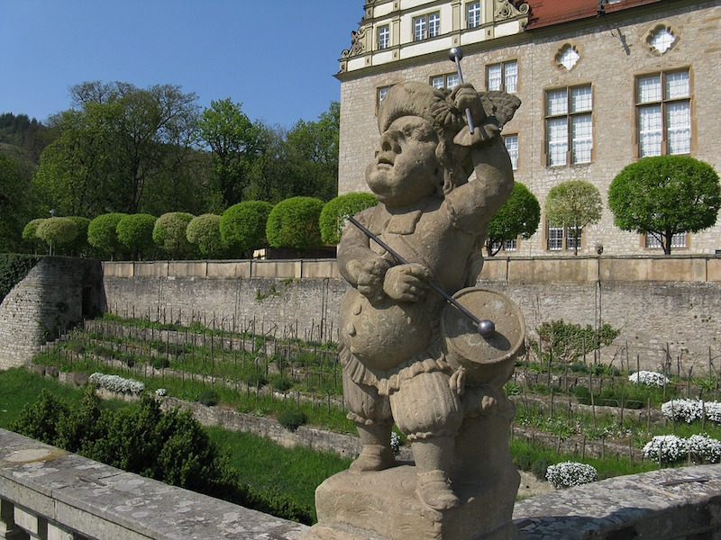 Sculpture at Schlossgarten Weikersheim, Germany
