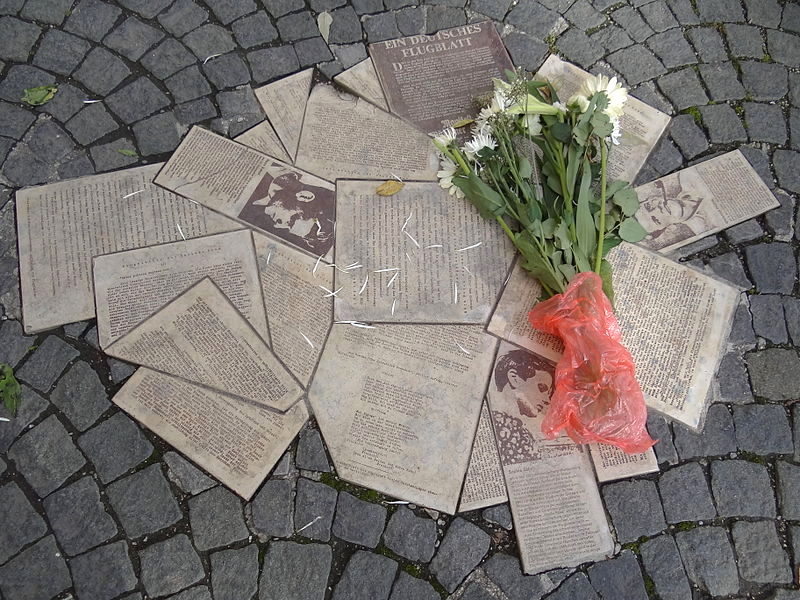 Weiße Rose (White Rose) Pavement Memorial