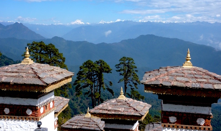 Chortens & Himalayas - Dochula Pass featured